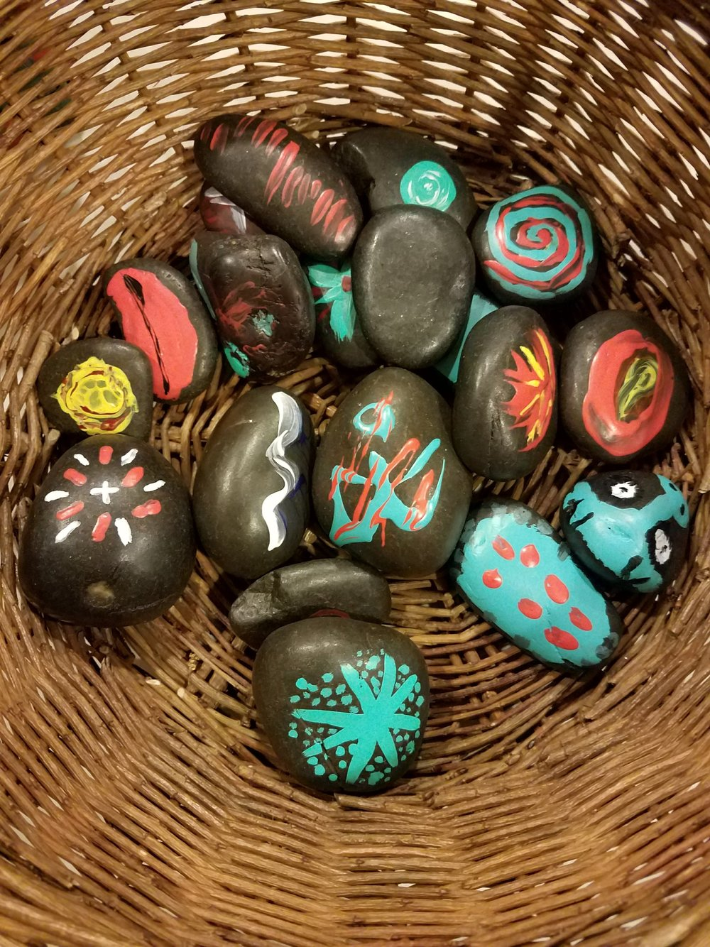 Rock Prayers painted by the Middle School Youth Group