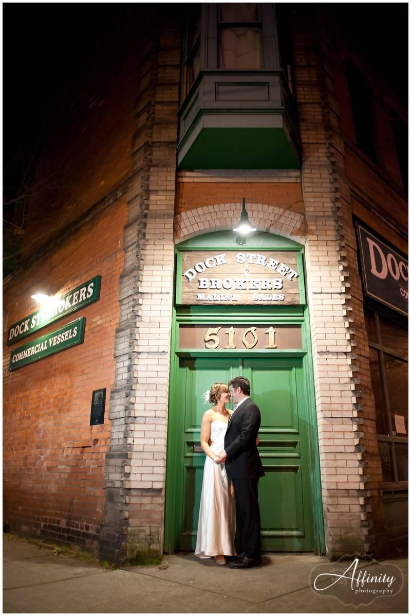 Bride and groom share the spotlight on Ballard Ave.