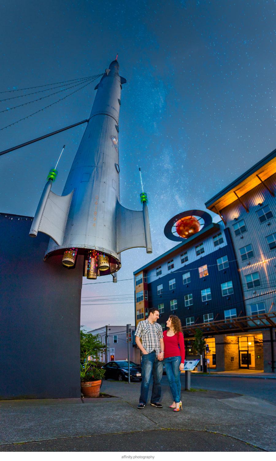 Fremont Rocket Engagement Portrait