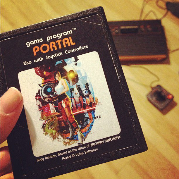 The custom made Atari 2600 version of Portal by Rudy Jahchan.