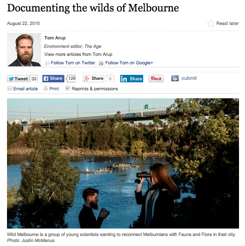 Wild Melbourne featured in The Age!