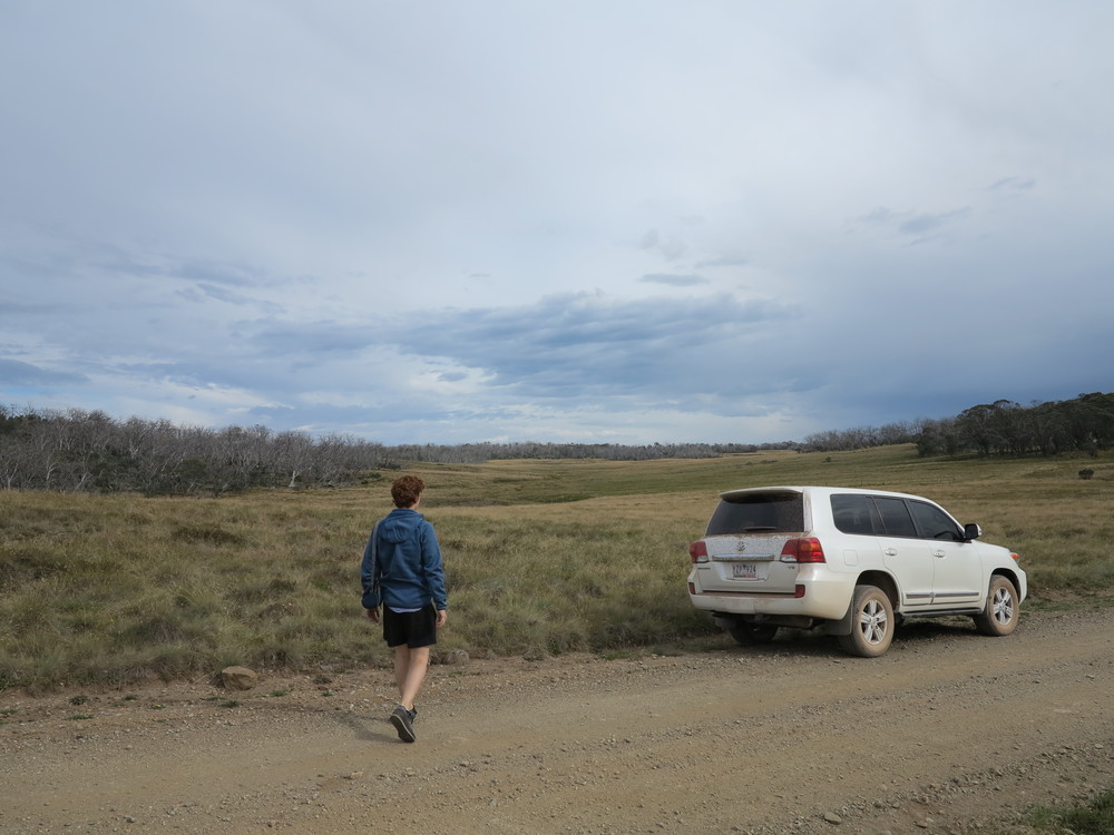 Parked on the edge of Howitt Plains. Photo: Alex Mullarky