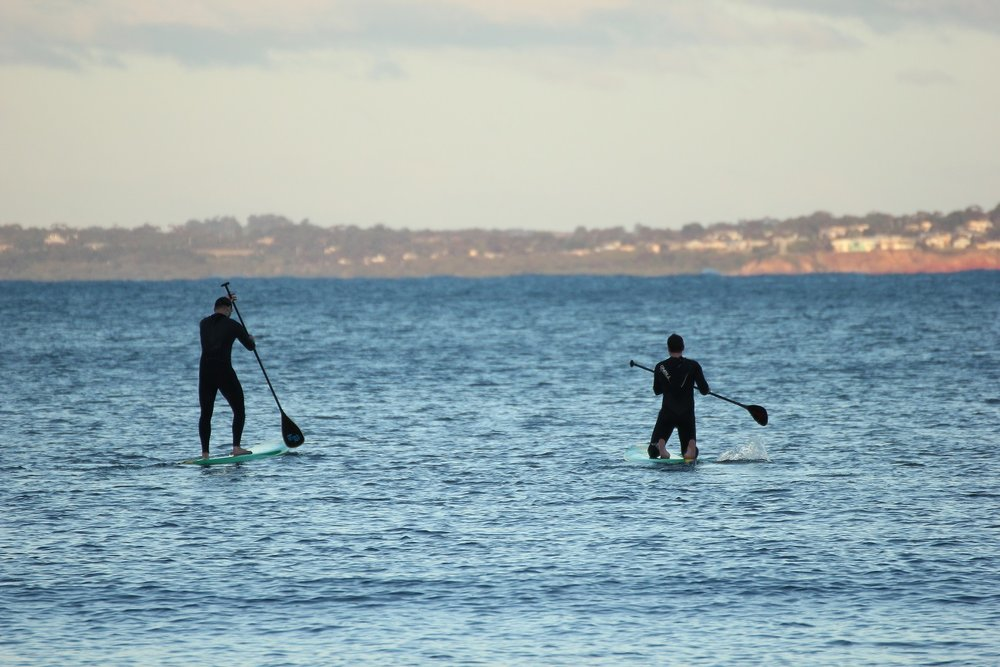 Paddle boarding is another popular pastime enjoyed at Point Leo. Image: Emma Walsh