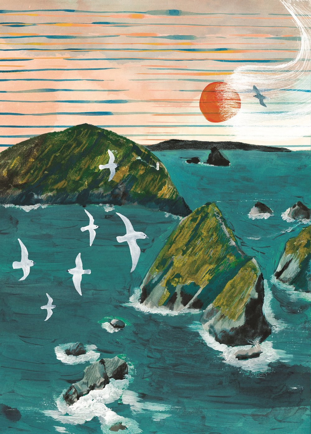 'Maatsuyker Islands' was a piece of Marc's artwork featured in Newswrite Magazine.  Image: Marc Martin