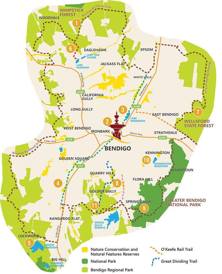 Bendigo's Natural Treasures Map is included in the Living Next to Nature booklet and website.  Image:   http://www.bendigonature.org/