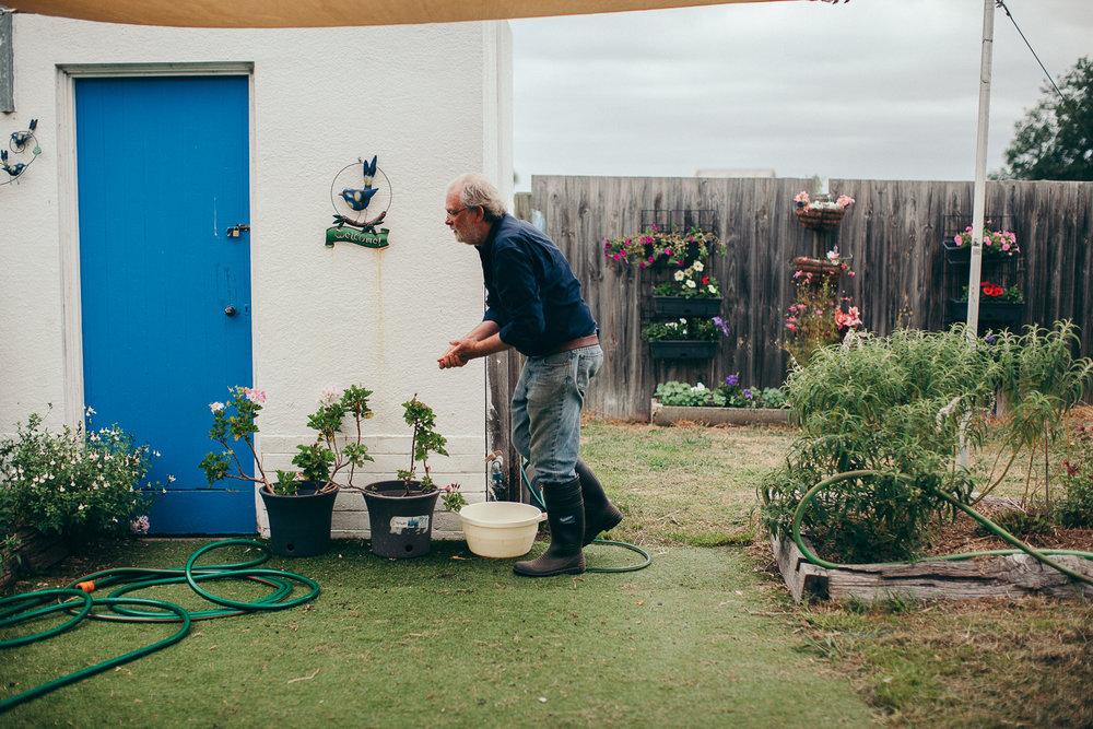 Merriman Creek Landcare Group member, Paul Harrison. Image:Andrew Northover
