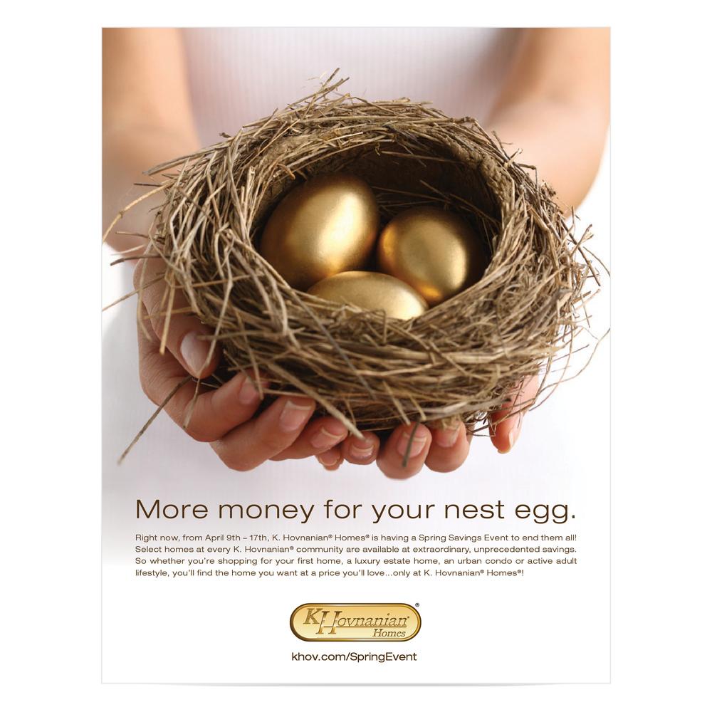 nest egg campaign print digital u2014 kathy black