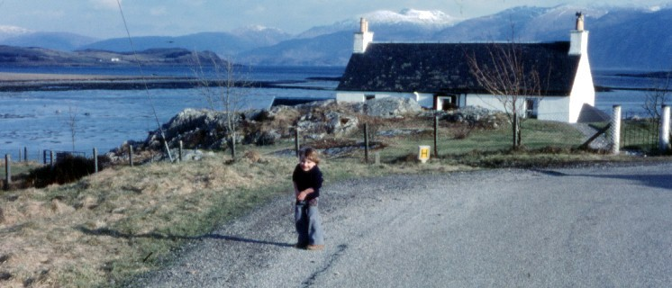 Here I am, a wee lad in 1979, exploring the beaches of my home town, Port Appin, Scotland