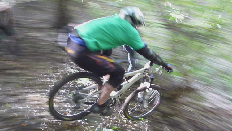 On a ride with my old gang, McBoab, in Mine Woods, Bridge of Allan, Scotland