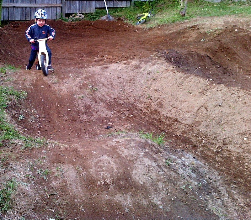 Life is good when you have a pump track in the hood