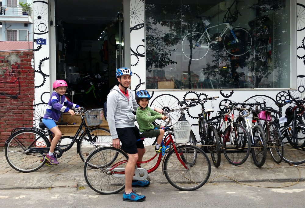 The Hanoi Bicycle Collective on the Tay Ho