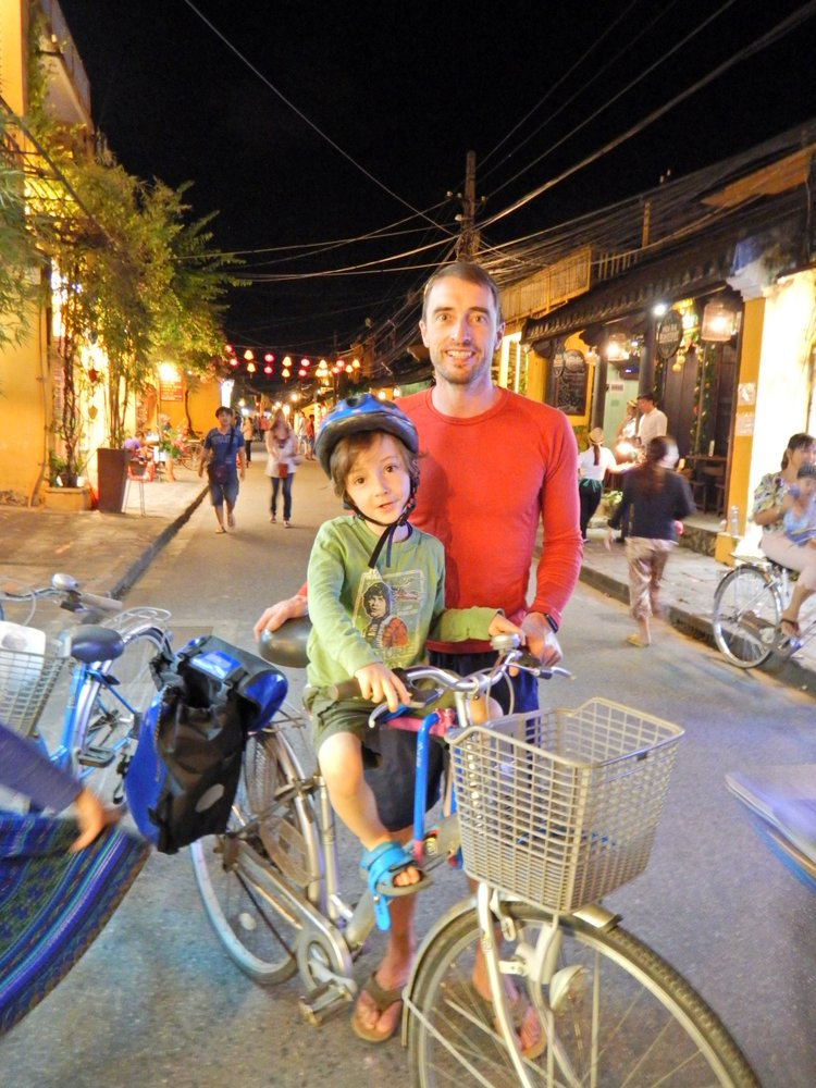 Downtown Hoi An. Where the fun action carries on until late!