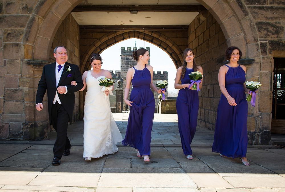 A wedding photograph at Hoghton Tower