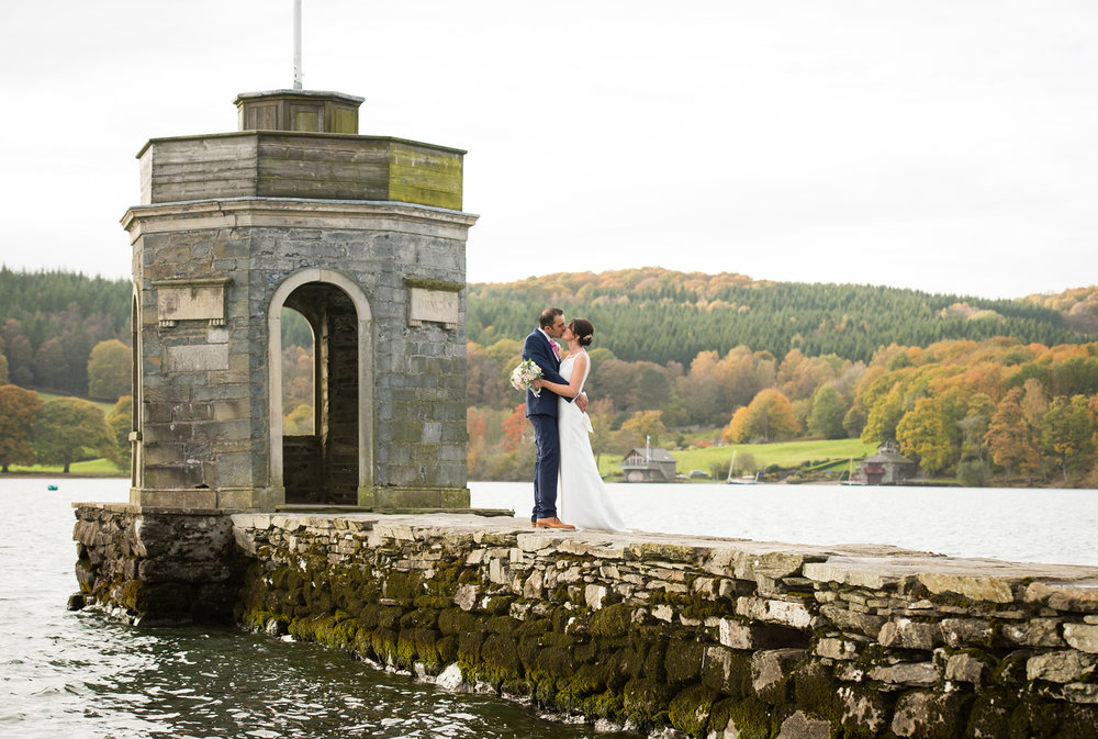 Storrs Hall Lake District Wedding - The Temple National Trust Folly Lake Windermere