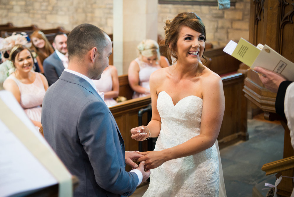 Sarah and Jonny married at St Michael and All Angels Church Cockerham in Lancashire.