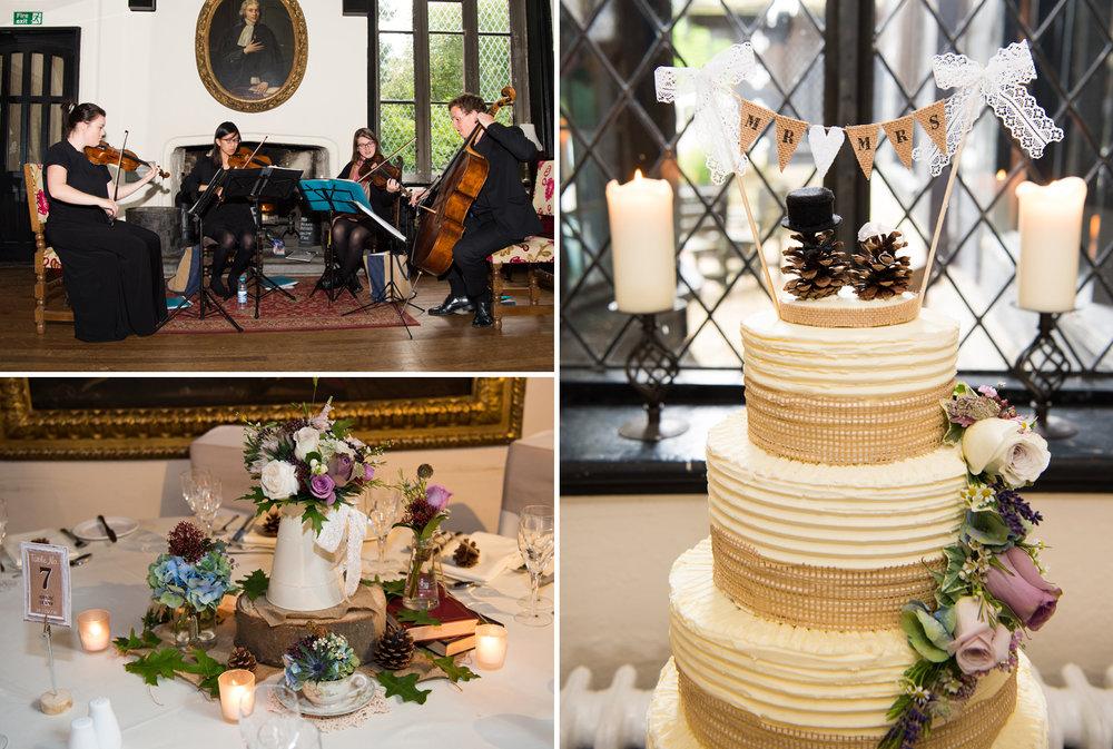 Wedding cake at Samlesbury Hall