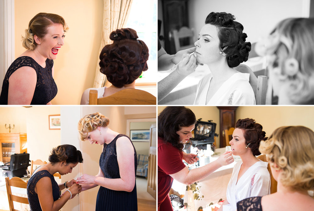 Photograph of bridal hair and make-up