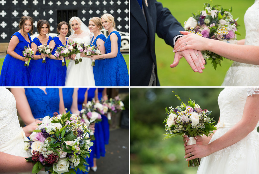Wedding bouquets at Samlesbury Hall