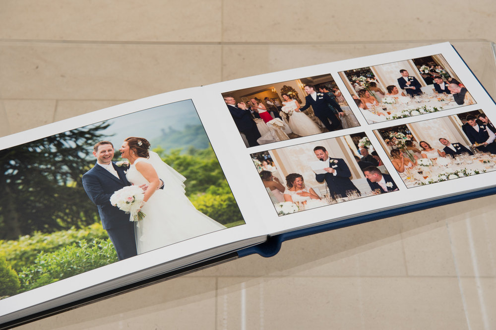 Luxury wedding story book pages