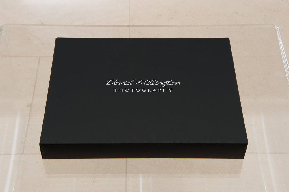 David Millington Photography Branded Wedding Album Presentation Box