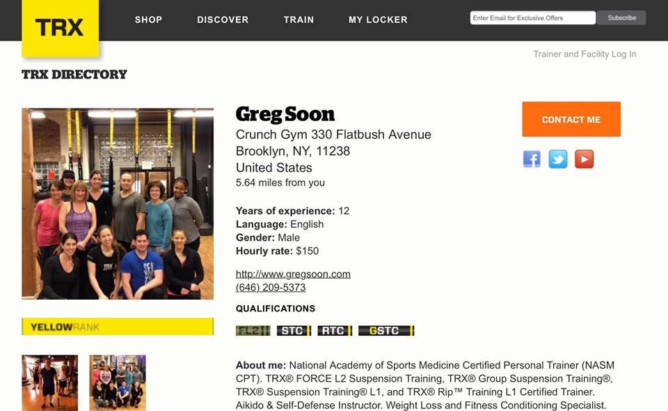 Greg Soon TRX Directory