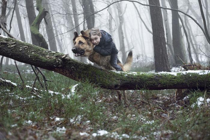 Boy Rides Dog