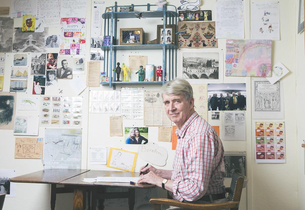 Allan Ahlberg in his studio in Bath