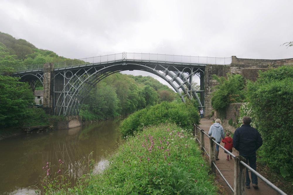 The Iron Bridge in the Ironbridge gorge