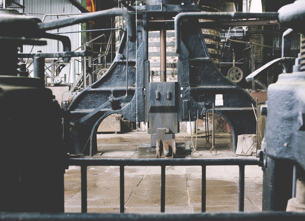 The  original Steam Hammer seen in the Iron Rolling Mill