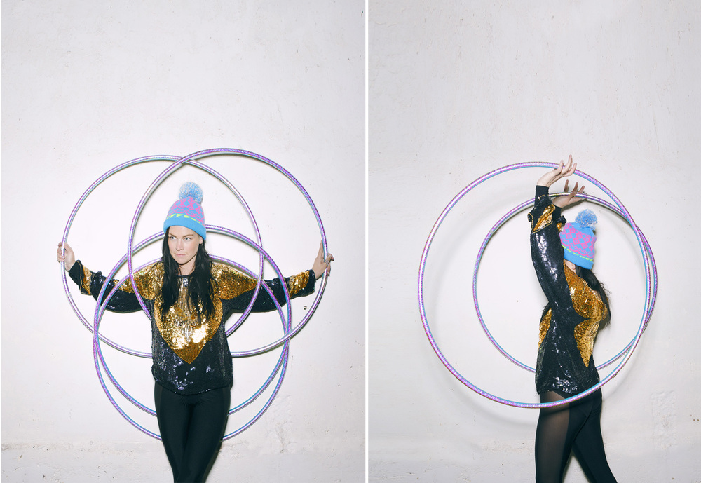 hula hoop portrait