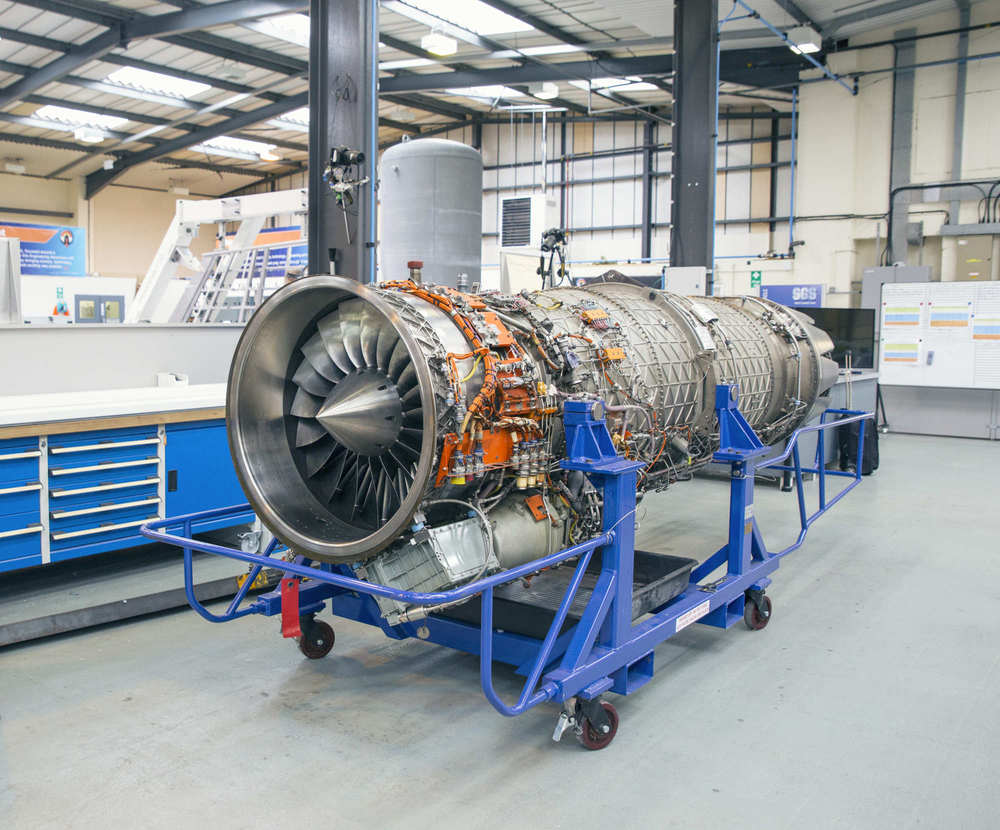 The Bloodhound SSC's EL 200 jet engine.