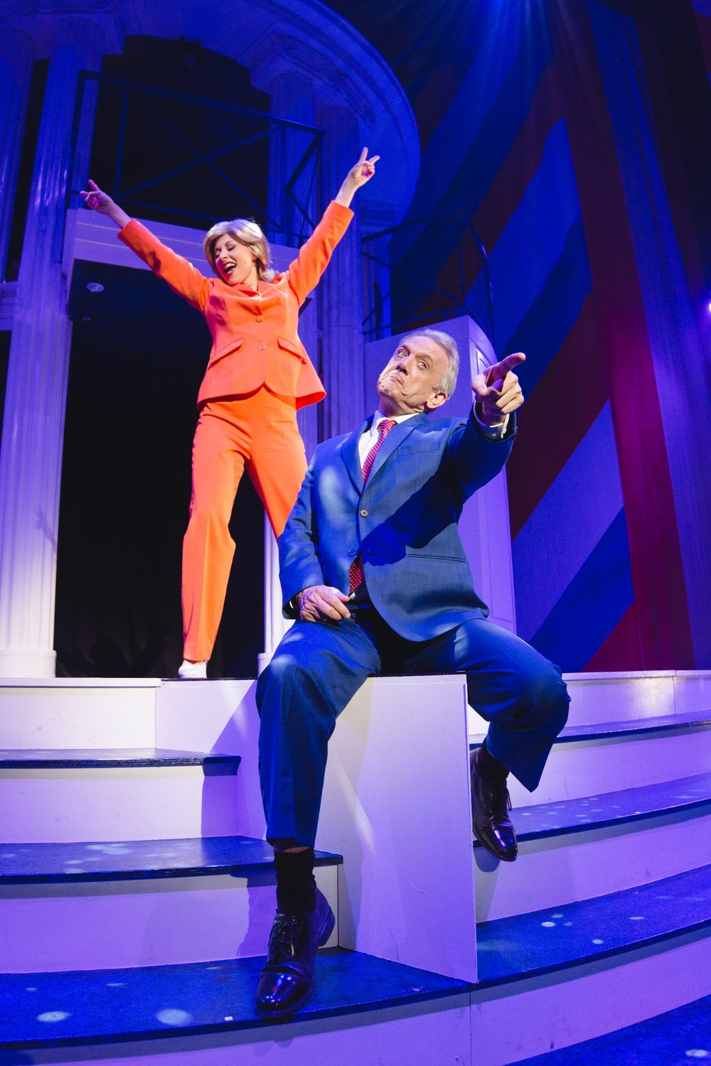 64 Lisa Adam and Simon Burke. Clinton The Musical. image by Daniel James Grant..jpg