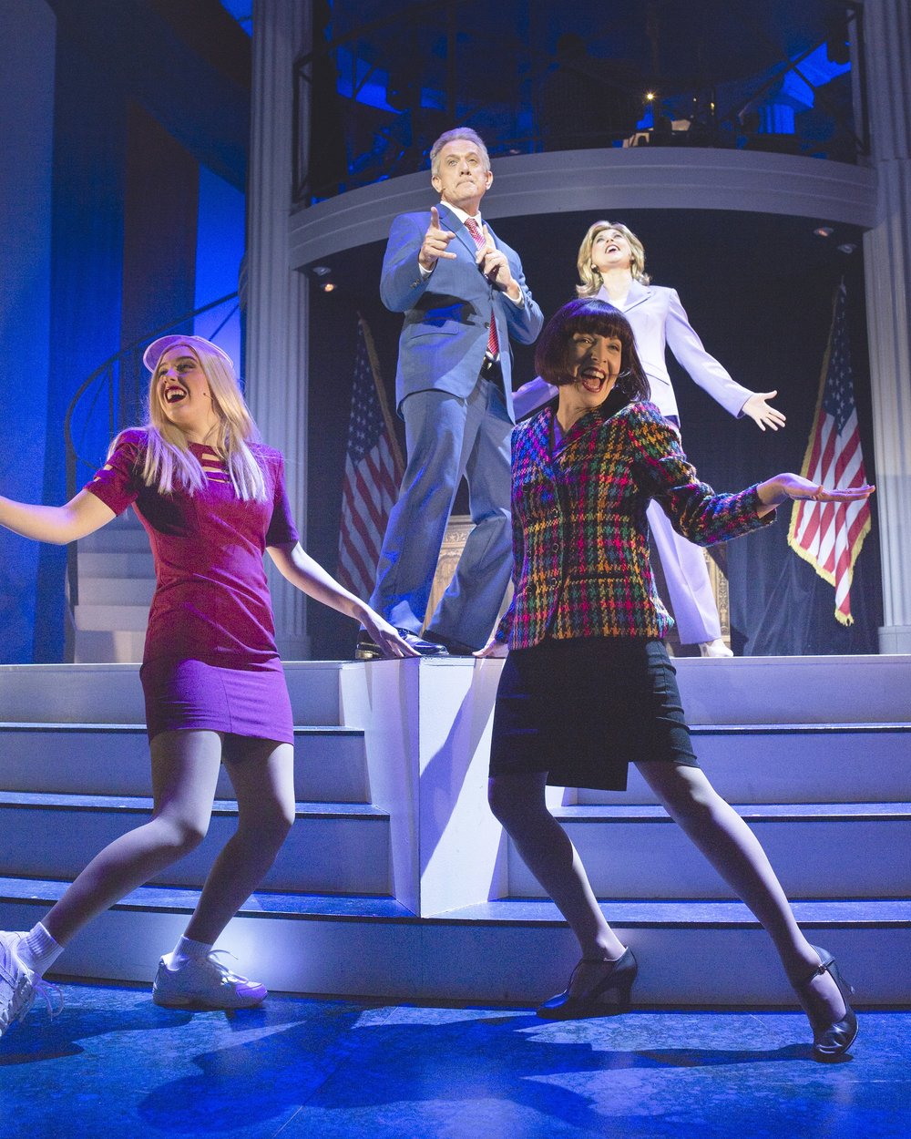 22  Megan Kozak, Simon Burke, Lisa Adam and Clare Moore. Clinton The Musical. image by Daniel James Grant..jpg