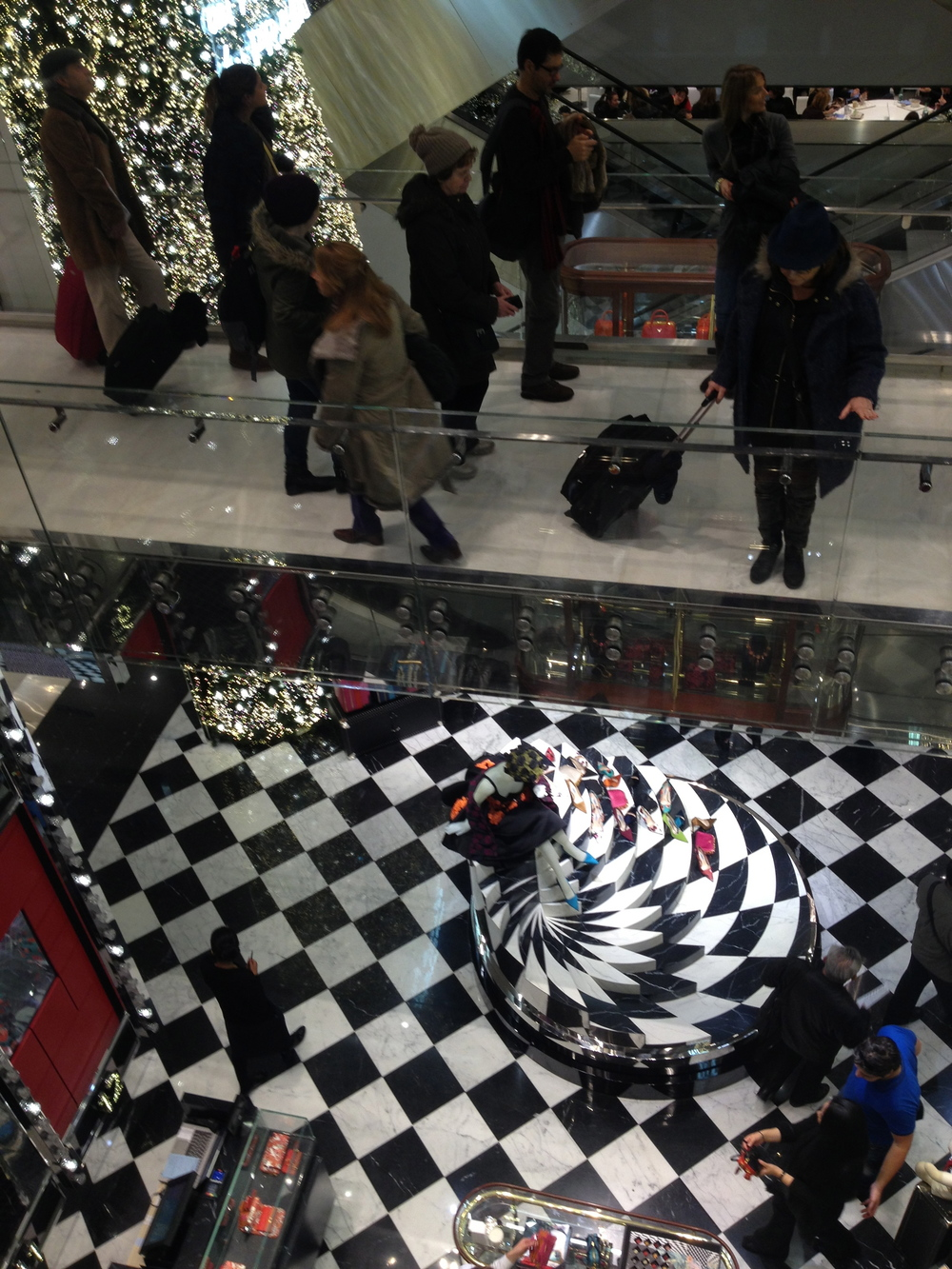 The confusing interior of Printemps