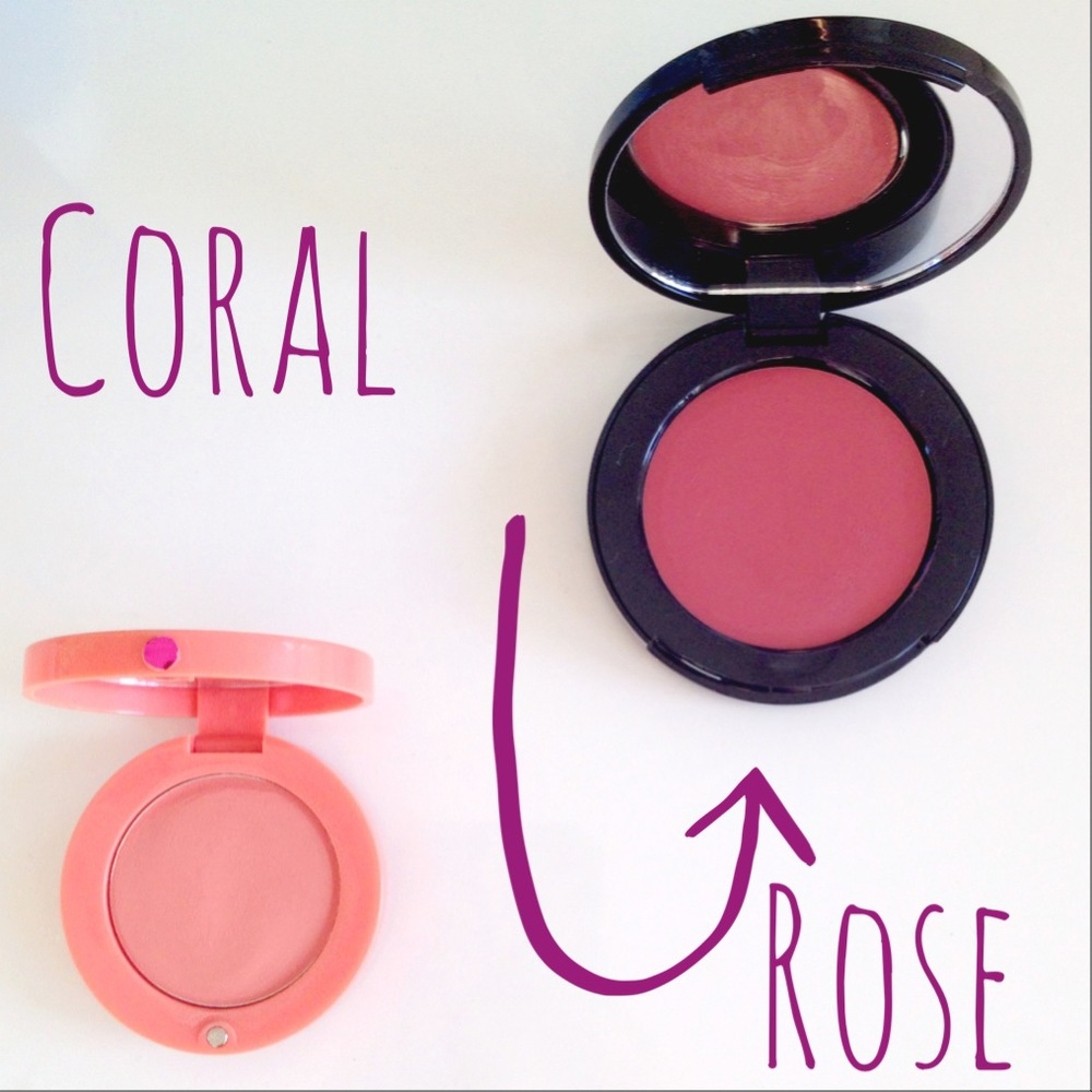 Bourjois Cream Blush in 02 - £7.99 Bobbi Brown Pot Rouge in Rose - £19.00 / $44.00