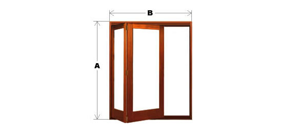 Bifold Door System - Single Light - 2 Door (All-Left or All-Right) Code BFD-SL-2P-ALAR