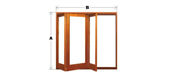 Bifold Door System - Single Light - 3 Door (All-Left or All-Right) Code BFD-SL-3P-ALAR