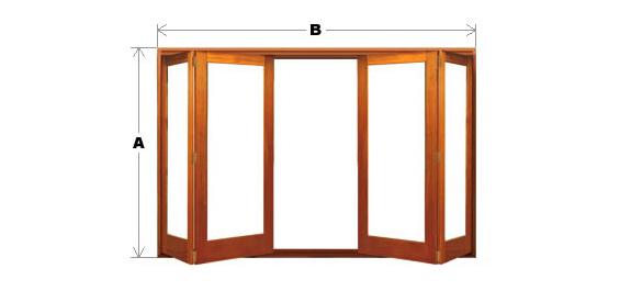 Bifold Door System - Single Light - 4 Door (2-Left and 2-Right) CodeBFD-SL-4P-2L2R