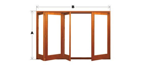 Bifold Door System - Single Light - 4 Door (3 One Way and 1 Other) CodeBFD-SL-4P-3N1