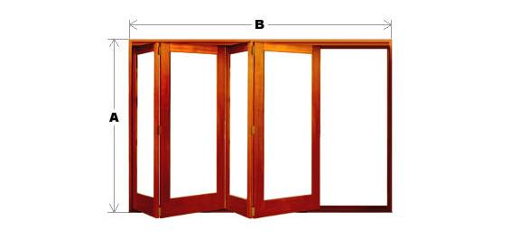 Bifold Door System - Single Light - 4 Door (All-Left or All-Right) CodeBFD-SL-4P-ALAR