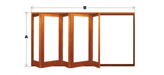 Bifold Door System - Single Light - 5 Door (All-Left or All-Right) CodeBFD-SL-5P-ALAR