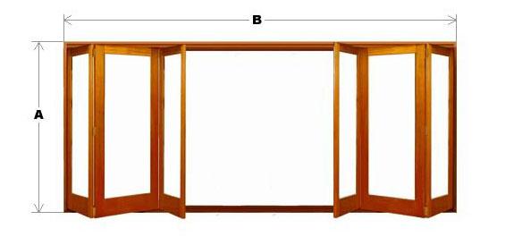 Bifold Door System - Single Light - 6 Door (3-Left and 3-Right) CodeBFD-SL-6P-3L3R