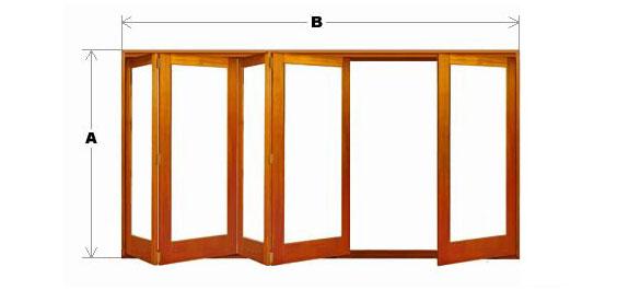 Bifold Door System - Single Light - 5 Door (4 One Way and 1 Other) CodeBFD-SL-5P-4N1