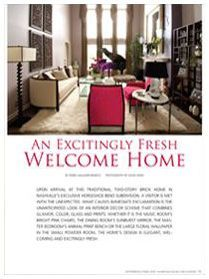 Nashville Home and Garden September / October 2009 5 Page Feature