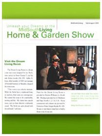 Midsouth Living  July / August 2000 Dream Living Room for Joe and Robin Birch displayed at Home & Garden Show