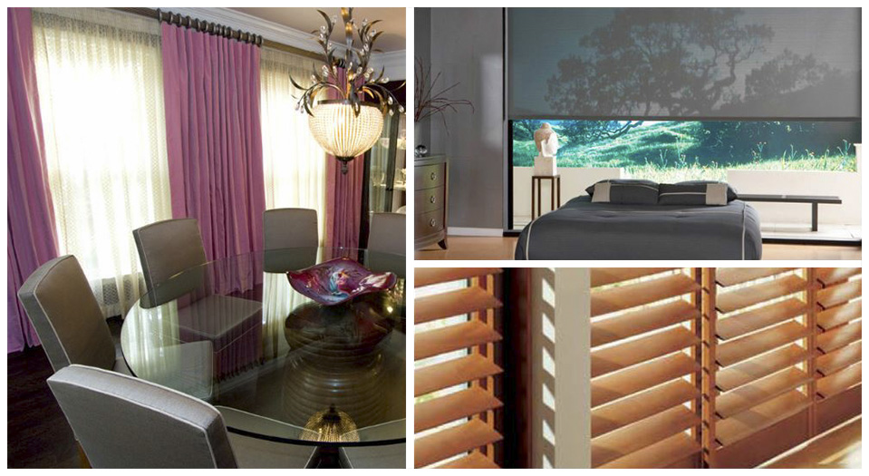 custom window treatments including shutters and drapery