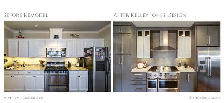 kitchen design photos before and after. 2 Memphis Midtown Kitchen Remodel Before After Kelley  Midtown Memphis Interior Design By Kelley Jones