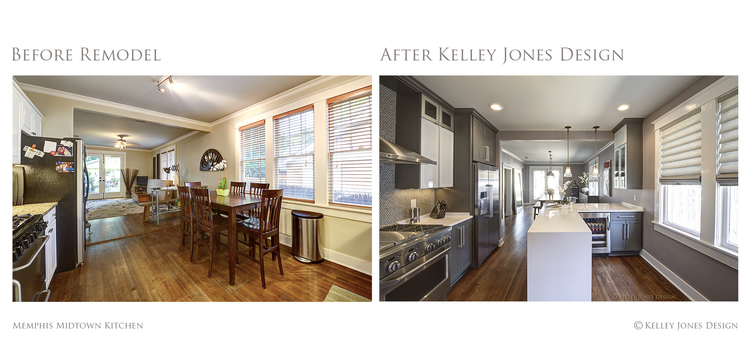 kitchen design photos before and after. 1 Memphis Midtown Kitchen Remodel Before After Kelley  Midtown Memphis Interior Design By Kelley Jones