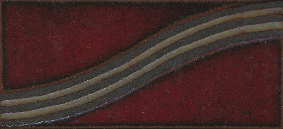 Wave Border  Ariana Color Palette - Black Line