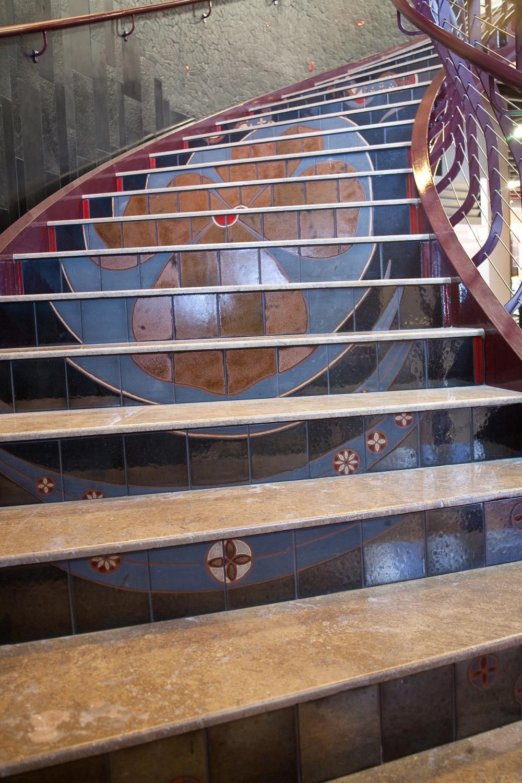 Kimono Mural Staircase